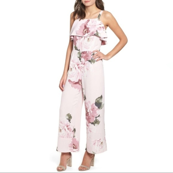 huge range of cheap for discount purchase genuine Leith Pink Silver Rose Floral Jumpsuit NWT